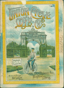 Cover of Union Cycle Manufacturing Company catalogue, Boston, Mass., undated