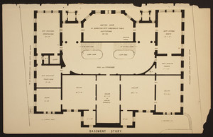 Architectural Plans, Boston City Hall