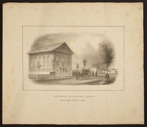 Suffolk St. Chapel, Boston, dedicated Feb. 5th 1840