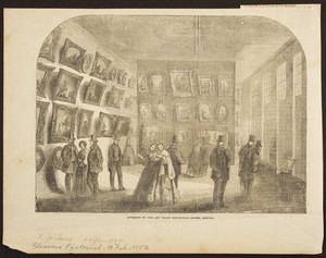 Interior of the Art Union Exhibition Rooms, Boston
