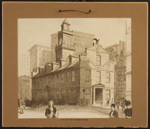 Old State House, Washington Street, Boston, Mass., ca. 1854