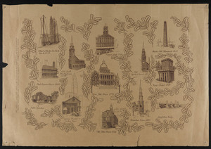Commemoration of the tercentenary of the Massachusetts Bay Colony, 1630-1930, drawing by Mildred Mowll, Women's Educational and Industrial Union, Boston, Mass., 1930