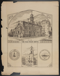 Old State House as it is, as it was, Boston, Mass., 1876