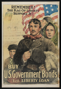 Remember! The Flag of liberty, support it! Buy U.S. government bonds