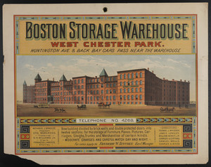 Boston Storage Warehouse, West Chester Park, Boston, Mass.