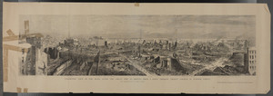Panoramic view of the ruins after the Great Fire in Boston