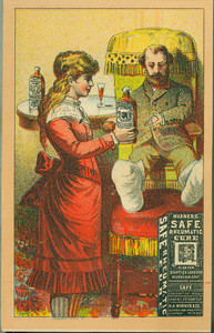 Trade cards for Warner's Safe Rheumatic Cure, H.H. Warner Company, Rochester, New York, undated