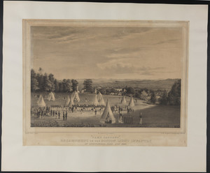 """Camp Sargent,"" Encampment of the Boston Light Infantry at Springfield, Mass., July 1840"