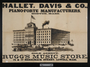 Hallet, Davis, and Co., Pianoforte Manufacturers, Boston, Mass.
