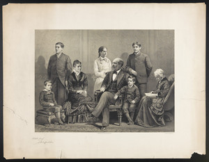 [President Garfield and his family]