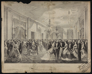 Grand Reception of the Nobilities of the Nation, at the White House, 1865