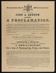 Lincoln's First Thanksgiving Proclamation