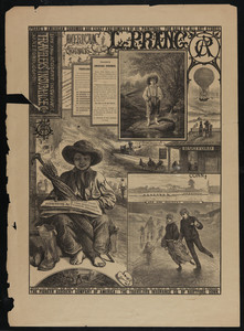 Advertisement for life and accident insurance, Travelers' Insurance Co., Hartford, Conn.