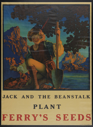 "Ferry's Seeds advertisement, ""Jack and the Beanstalk"""