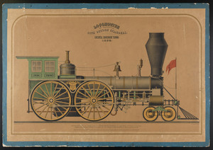 Locomotive for passengers with outside cylinders, Lowell Machine Shop, 1852