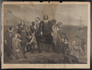 The landing of the Pilgrim Fathers in America, A.D. 1620