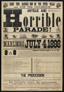 Antique and horrible parade!