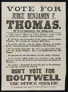 Vote for Judge Benjamin F. Thomas of West Roxbury, for Congress