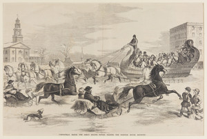 Cleopatra's Barge, the Great Boston Sleigh, Passing the Norfolk House, Roxbury