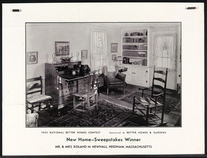 1935 National Better Homes Contest, New Home--Sweepstakes Winner