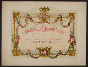 Blank marriage certificates, undated