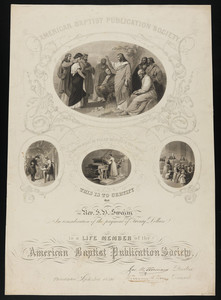 American Baptist Publication Society certificate