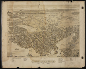 Bird's-eye view of Portsmouth, N.H.
