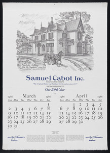 Partial calendar for Samuel Cabot Inc.