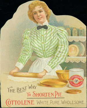 Trade card for Cottolene Shortening, produced by N.K. Fairbank Company, location unknown, undated