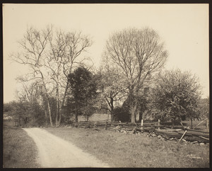 Streetscape with house, Southbury, Conn.