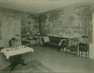 Interior view of Hamilton House, parlor, northeast corner, South Berwick, Maine, undated