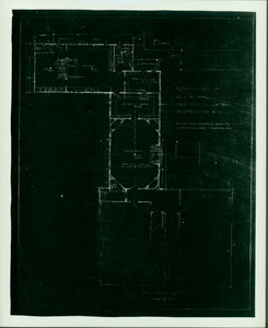 First floor plan showing alterations for Woodbury Langdon, Langdon House, Portsmouth, N.H.