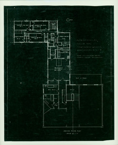 Second floor plan showing alterations for Woodbury Langdon, Langdon House, Portsmouth, N.H