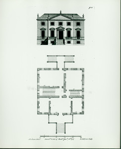 Elevation and floor plan for Langdon House, Portsmouth, N.H.