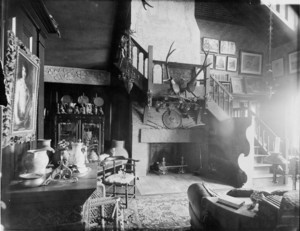Interior view of a studio, T. Quincy Browne residence, 98 Beacon St., Boston, Mass., undated