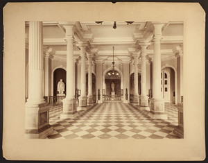 Interior view of Doric Hall, Massachusetts State House, facing the north wall