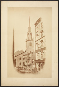 View of the Federal Street Church before the 1872 fire