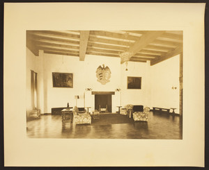 Interior view of Eleanora R. Sears's Garage house, sitting room, 5 Byron St., Boston, Mass., ca. 1941