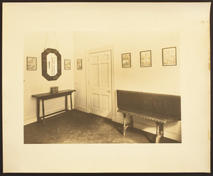 Interior view of Eleanora R. Sears's Garage house, unidentified room, 5 Byron St., Boston, Mass., ca. 1941