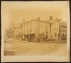 View of Ferdinand & Co.'s Furniture and Carpet Store, 1872 Washington Street