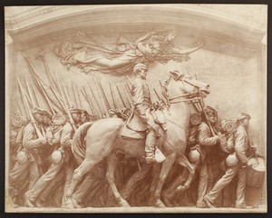 Detail of the Robert Gould Shaw and 54th Regiment Memorial, Boston Common, Boston, Mass., undated
