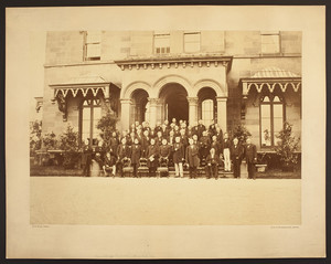 Group portrait of members of the Massachusetts Historical Society, ca. 1877