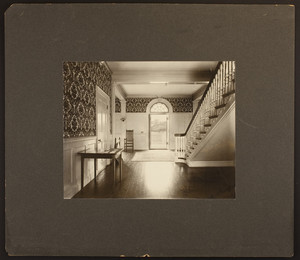 Interior view of Bertram Hall, Radcliffe College