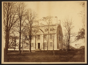 Exterior view of The Lindens, ca. 1875