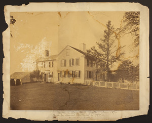 Exterior view of the Lawrence Homestead, June 1870