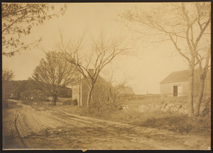 Exterior view of an unidentified Saltbox-style house