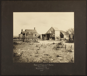 View of the Charles E. Bates House, 1898