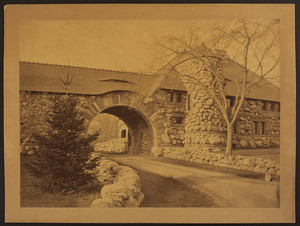 Exterior view of the Gate Lodge, Frederick Ames Estate, North Easton, Mass., undated