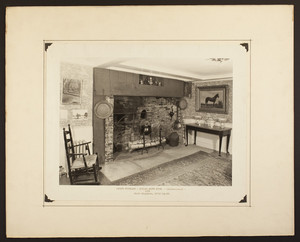 Parlor fireplace in the Richard Smith House