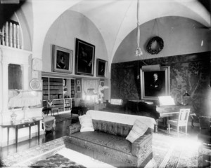 Interior view of sitting room, Arthur Little residence, 2 Raleigh Street, Boston, Mass., undated